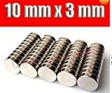 Tera® 50 X Disc Neo néodyme Terres rares Aimants forts N42 10 mm x 3 mm Modèles Craft