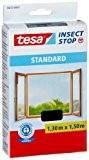 Tesa Insect Stop Moustiquaire Standard pour fenêtre 1,30m x 1,50m, Noire