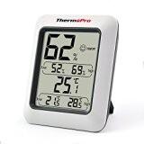 ThermoPro TP-50 Thermomètre Hygromètre Intérieur, Moniteur Température Humidité LCD Digital