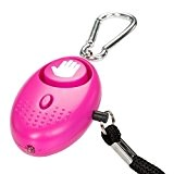 tiiwee Alarme Personnelle d'Urgence avec Torche LED - Hot Pink - 130 dB - Système d'Auto-Défense et de Sécurité en ...