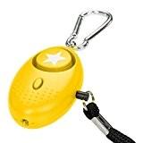 tiiwee Alarme Personnelle d'Urgence avec Torche LED - Jaune - 130 dB - Système d'Auto-Défense et de Sécurité en Cas ...