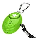 tiiwee Alarme Personnelle d'Urgence avec Torche LED - Vert - 130 dB - Système d'Auto-Défense et de Sécurité en Cas ...