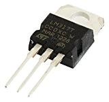 TOOGOO(R) 10PCS /L317 /LM317 /LM317T TO-220 Regulateur de tension 1.2V 37V 1.5A Pour Noir