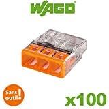 WAGO - Boite 100 Mini Bornes de Connexion 3 Entrées S2273