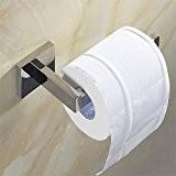 WEARE HOME Porte Rouleau Papier Toilette Acier Inoxydable Métal Chromé Miroir Poli 16*7,5*5,5cm-Dérouleur Papier Accessoirs WC,Déco Murale WC, Distributeur Papier ...
